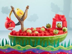 Watermelon Angry Birds