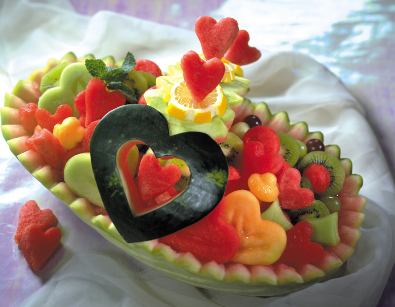 Watermelon Heart Basket